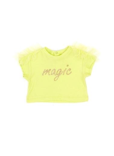 BG Baby Kız Bebek Neon Yeşil T-Shirt Yeşil